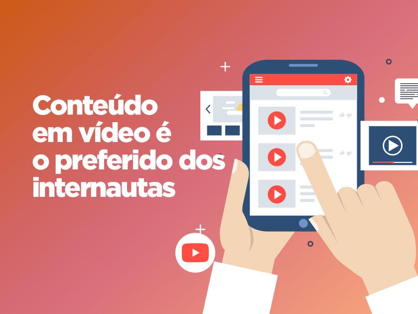 Conteúdos em vídeo é preferência entre internautas brasileiros